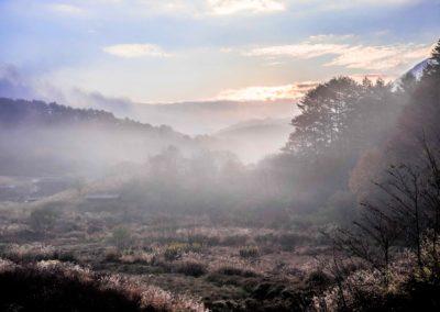 広島県山県郡安芸太田町小板の景色・風景 2018-11-08 07:30